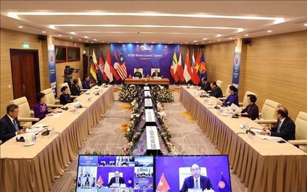 东盟女领导人会议:妇女为东盟全面和可持续复苏做出巨大贡献 hinh anh 2
