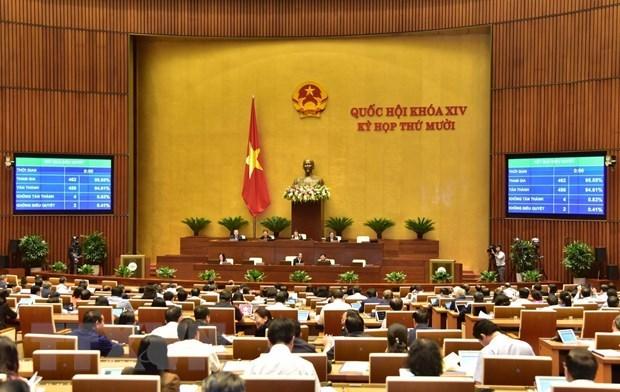 国会第十次会议:国会批准任命3个政府成员和最高人民法院法官 hinh anh 2