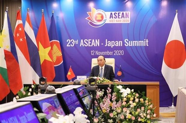 ASEAN 2020:第23次东盟——日本领导人会议召开 hinh anh 1