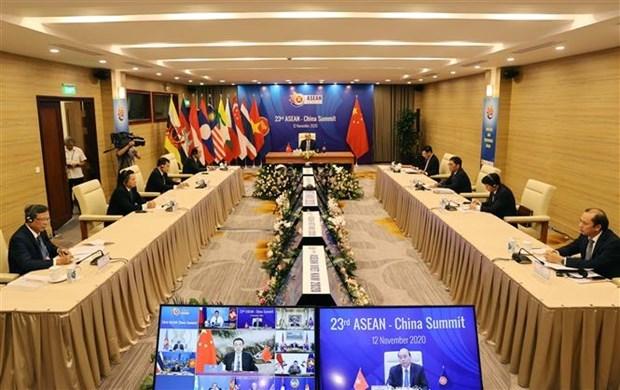 ASEAN 2020: 第23次东盟—中国领导人会议召开 hinh anh 2