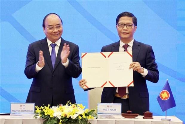 《区域全面经济伙伴关系协定协定》(RCEP)顺利签署 hinh anh 1