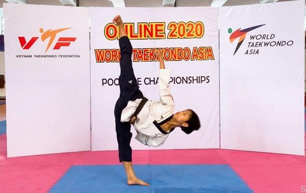 越南运动员范国越夺得2020年亚洲跆拳道锦标赛铜牌 hinh anh 1