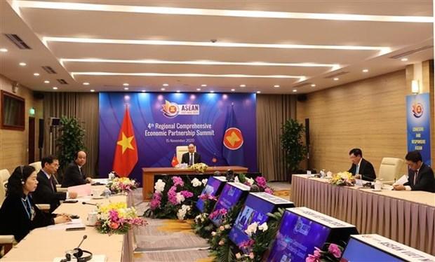ASEAN 2020:各国领导强调RCEP的价值 hinh anh 1