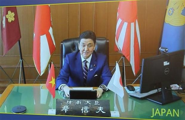 越南国防部长吴春历与日本防卫大臣岸信夫举行电话会谈 hinh anh 2