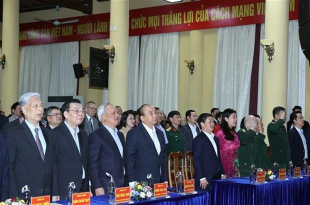 越南政府总理阮春福出席河内市奠边坊全民族大团结日活动 hinh anh 1