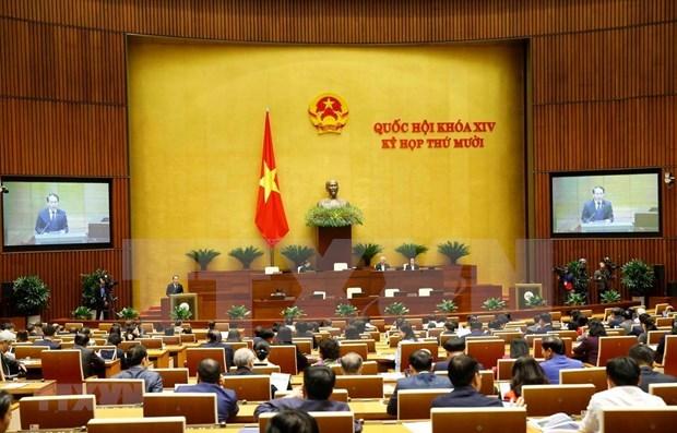 越南第十四届国会第十次会议:越南国会批准关于胡志明市采用城市政府组织形式的决议 hinh anh 1