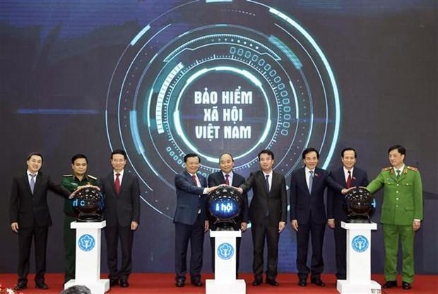 """阮春福总理出席""""数字社会保险——VssID应用程序""""公布仪式 hinh anh 2"""