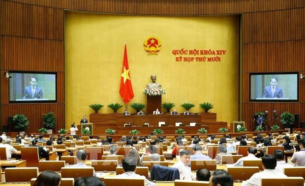 越南第十四届国会第十次会议:在最后一个工作日决定许多重大问题 hinh anh 1