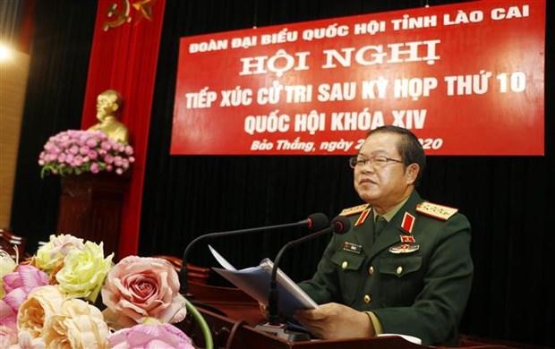 越共中央民运部部长张氏梅在林同省开展接待选民活动 hinh anh 2