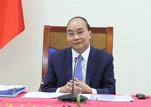 越南政府总理阮春福与柬埔寨首相洪森举行视频会谈 hinh anh 2