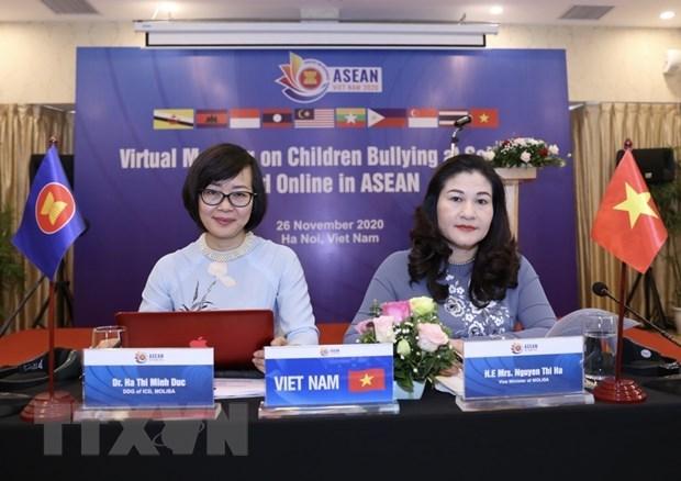 ASEAN 2020:保护儿童在校内和网络免受欺凌 hinh anh 1