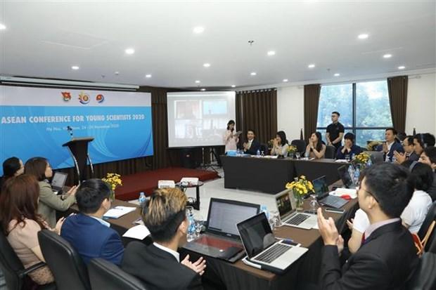 东盟青年科学家视频会议在河内举行 hinh anh 1
