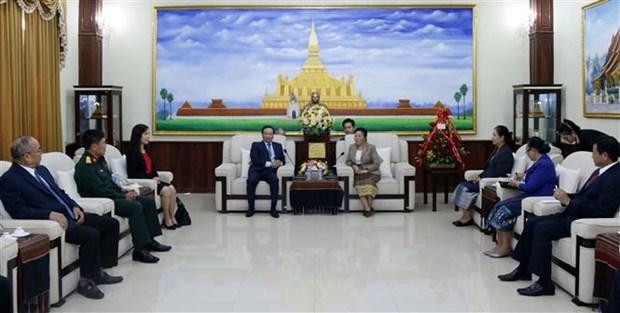 老挝高度评价越南在该国45年来国家发展过程中留下的烙印 hinh anh 2