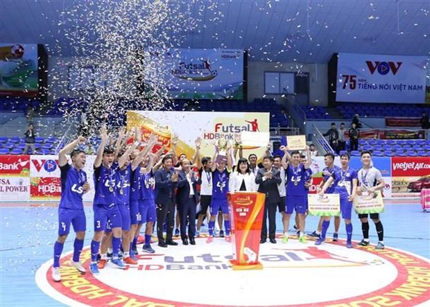 泰山南夺得2020年国家HDBank杯室内五人制足球锦标赛冠军 hinh anh 1