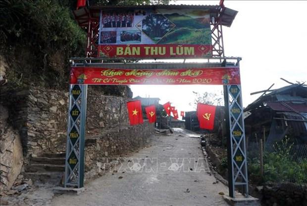 莱州省哈尼族同胞欢天喜地迎传统春节 hinh anh 2