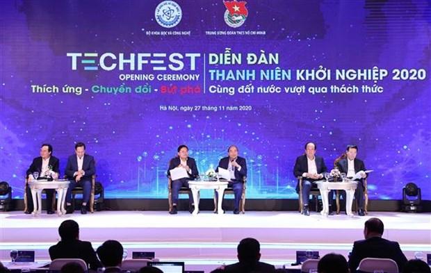 越南政府总理阮春福:为创新创业营造最好的环境 hinh anh 1