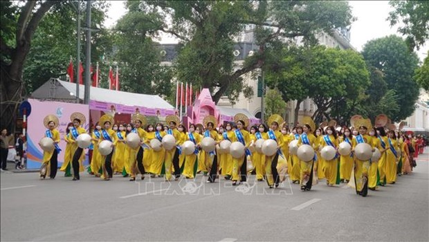 河内奥黛节:弘扬越南奥黛文化价值 hinh anh 1