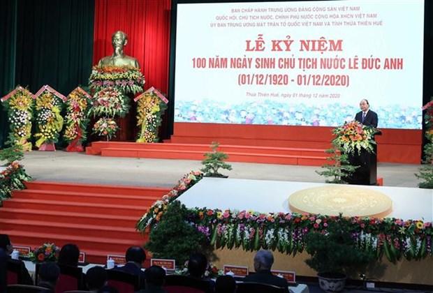越南政府总理阮春福出席黎德英主席诞辰100周年纪念活动 hinh anh 1
