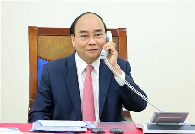 越南政府总理阮春福与荷兰首相吕特通电话 hinh anh 1