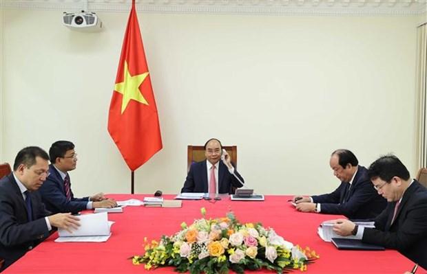 越南政府总理阮春福与荷兰首相吕特通电话 hinh anh 2