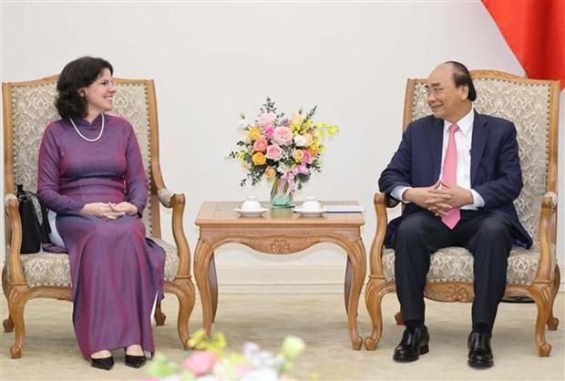 越南政府总理阮春福会见古巴驻越大使 hinh anh 1