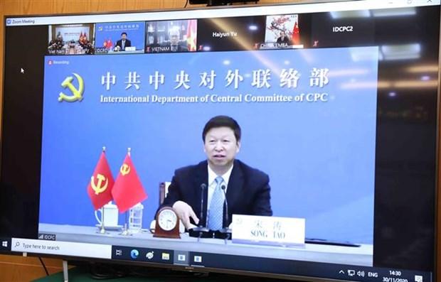 越共中央对外部部长同中国共产党中央对外联络部部长举行视频会谈 hinh anh 2