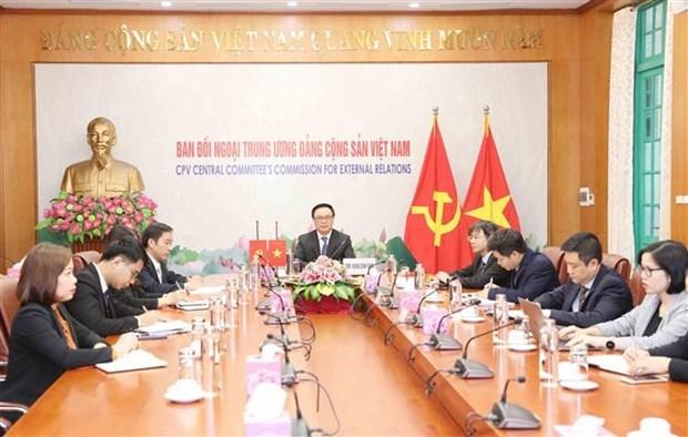 越共中央对外部部长同中国共产党中央对外联络部部长举行视频会谈 hinh anh 1