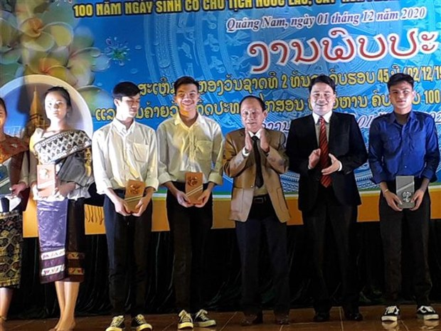 越南以多种形式庆祝老挝国庆45周年 hinh anh 2