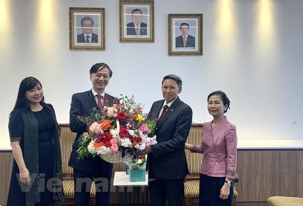 越南以多种形式庆祝老挝国庆45周年 hinh anh 3