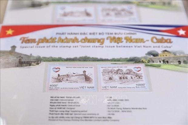 越古联合发行邮票首发仪式举行 hinh anh 1