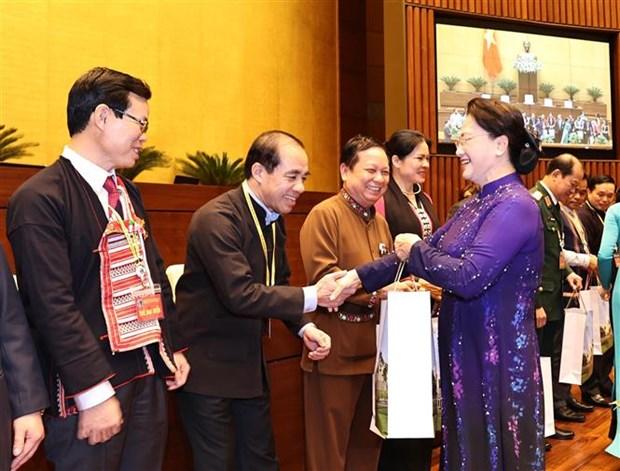 越南国会主席阮氏金银:党和国家十分重视做好民族工作 hinh anh 2