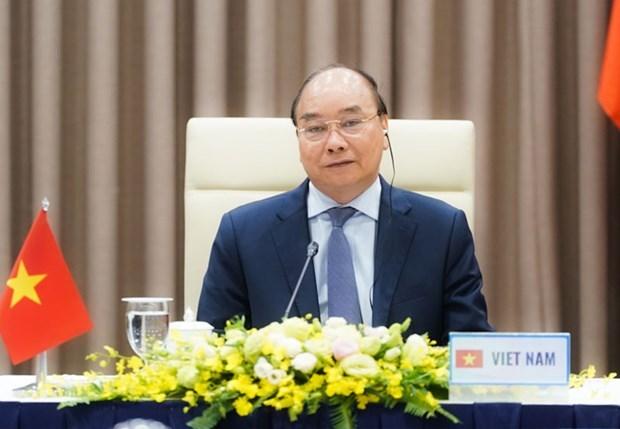 越南政府总理阮春福将以视频方式出席ACMECS 9、CLMV 10和CLV 11会议 hinh anh 1