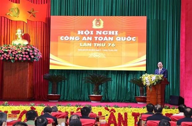 越南政府总理阮春福出席第76次全国公安会议开幕式 hinh anh 1