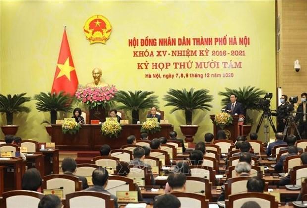 河内市第十五届人民议会第十八次会议召开 hinh anh 1