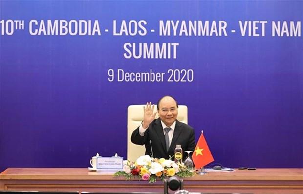 第10届柬老缅越领导人峰会以视频方式召开 hinh anh 1