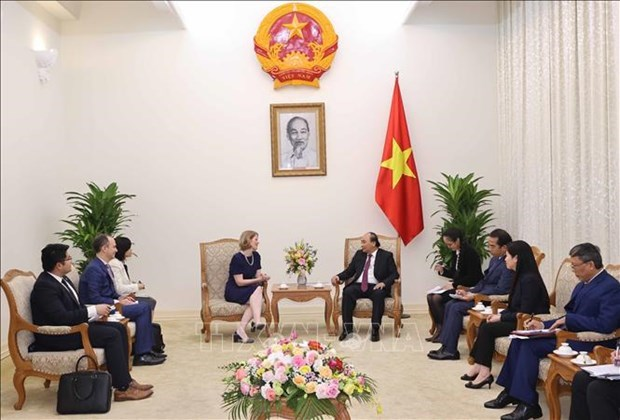 政府总理阮春福会见新西兰驻越大使和欧盟驻越代表团团长 hinh anh 1