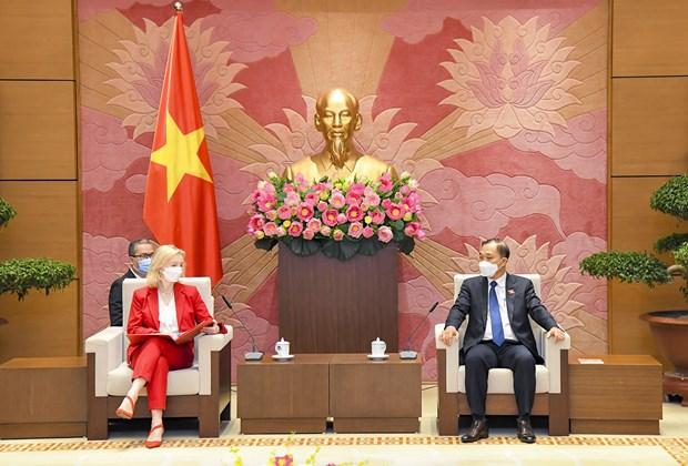 越南国会经济委员会主任武洪清会见英国国际贸易大臣伊丽莎白•特鲁斯 hinh anh 1
