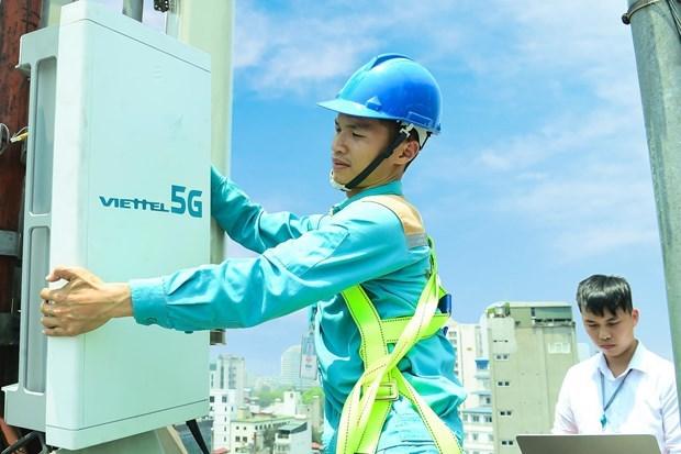 越南军队电信工业集团在首都河内启动5G试商用 hinh anh 1