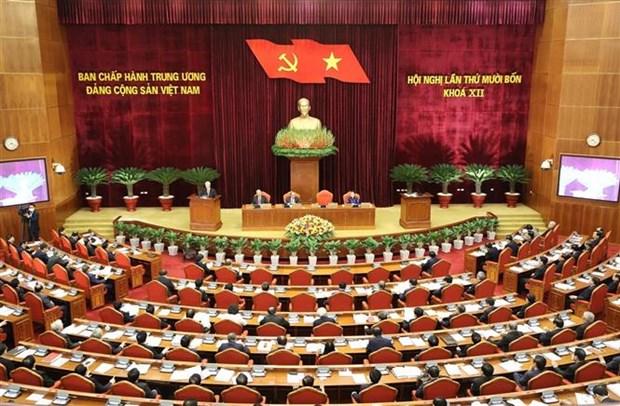 越南共产党第十二届中央委员会第十四次全体会议隆重开幕 hinh anh 2