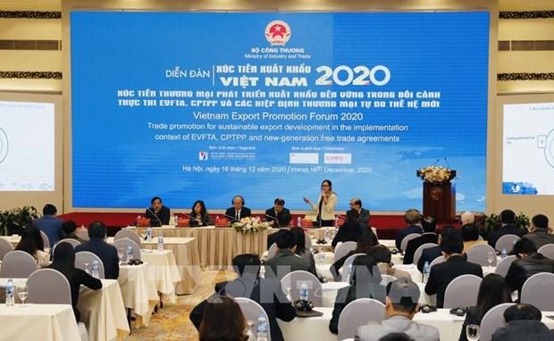 2020年全年越南商品出口总额或达2670亿美元 hinh anh 2