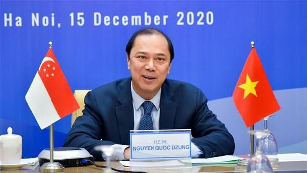 越南与新加坡举行第13次政治磋商 hinh anh 2
