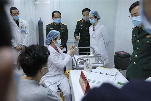 越南新冠疫苗开始人体注射试验 hinh anh 2