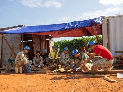 来自在南苏丹执行任务的越南野战医院之特殊礼物 hinh anh 3