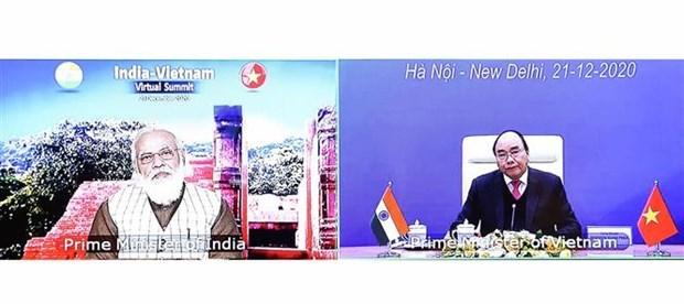 越南与印度致力于和平、繁荣和人民的联合声明 hinh anh 1