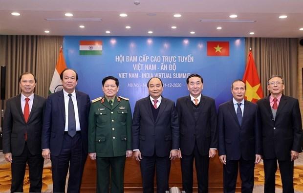 政府总理阮春福与印度总理举行视频会谈 :防务与安全合作是双边关系中的支柱 hinh anh 1