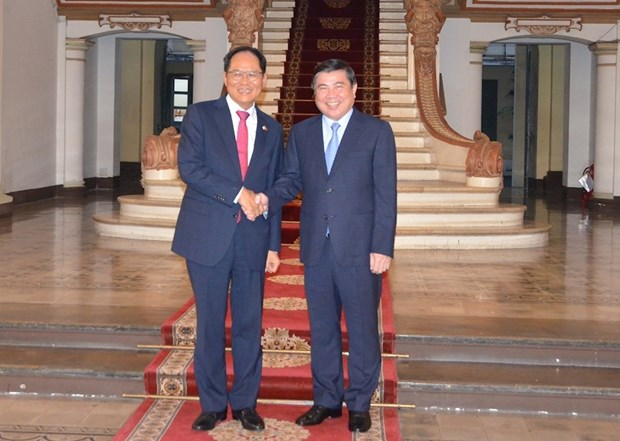 胡志明市与韩国加强合作促进数字化转型 hinh anh 2