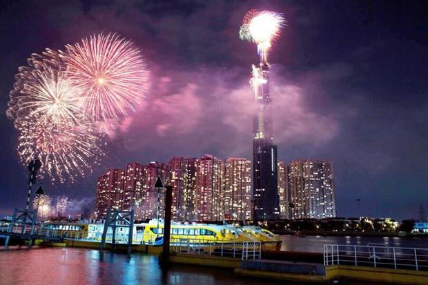 胡志明市将在新年到来之际举行艺术烟花燃放活动 hinh anh 2