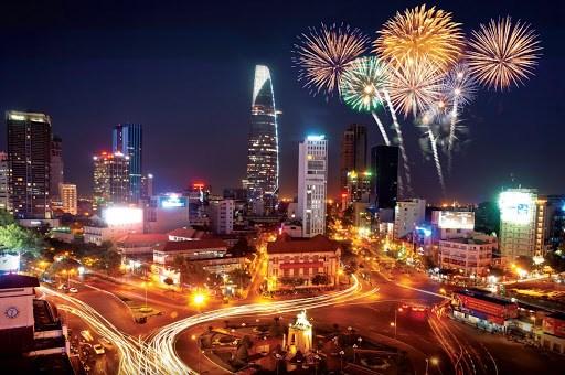 胡志明市将在新年到来之际举行艺术烟花燃放活动 hinh anh 1