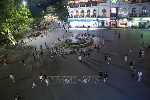 2021年1月1日起,河内市扩展古街南边步行街的空间 hinh anh 1