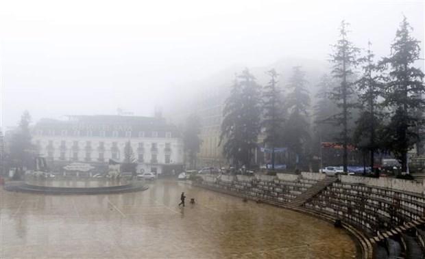 受强冷空气影响越南北部地区12月29日晚出现降雨天气 hinh anh 1